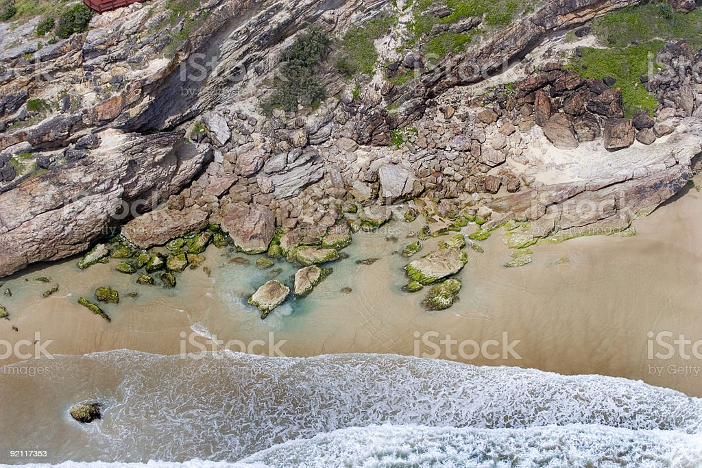 Aerial view of ocean royalty-free stock photo