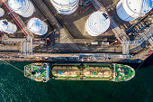 istock Aerial View of Oil Refinery and Fuel Storage Tanks 1266538425
