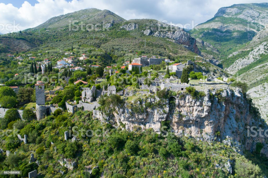 aerial view of Old town Bar royalty-free stock photo