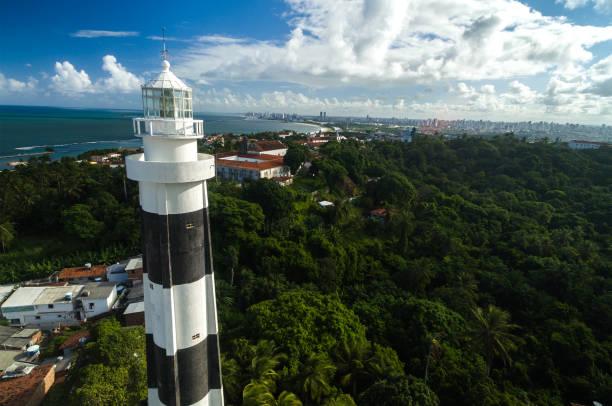 vista aérea de olinda em pernambuco, brasil - recife e olinda - fotografias e filmes do acervo