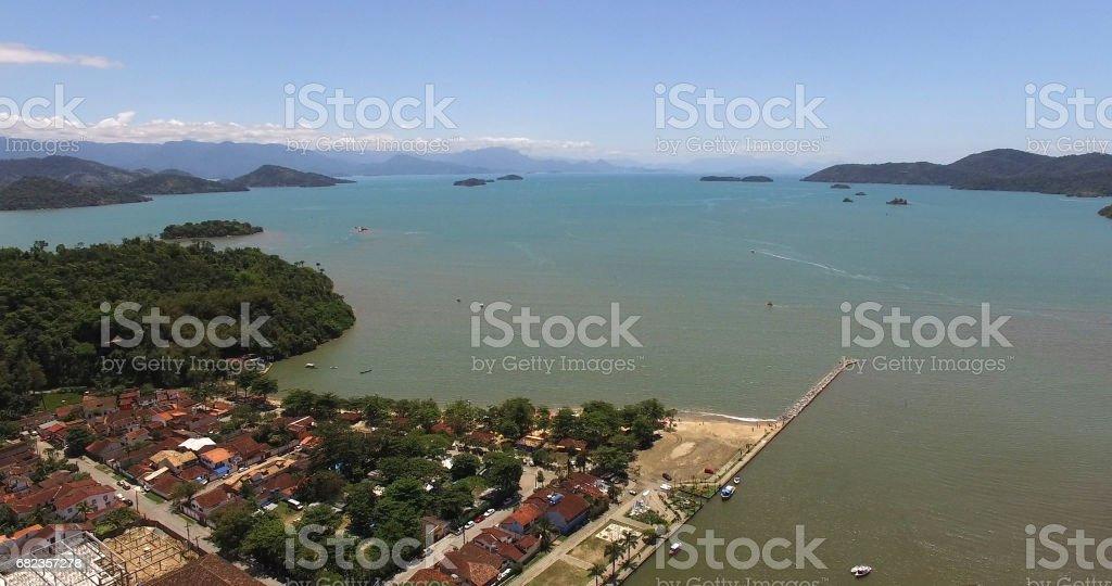 パラチーの航空写真ビュー、リオ ・ デ ・ ジャネイロ、ブラジル ロイヤリティフリーストックフォト