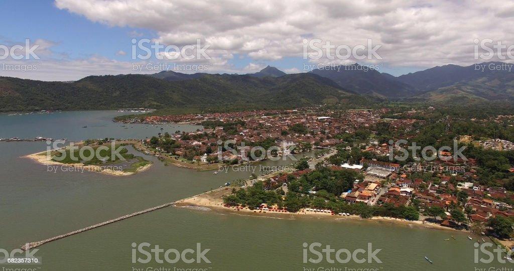 Vue aérienne de Paraty, Rio de Janeiro, Brésil photo libre de droits