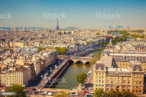 Aerial View Of Paris Stock Photo - Download Image Now