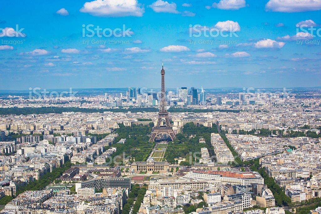 Aerial View of Paris stock photo