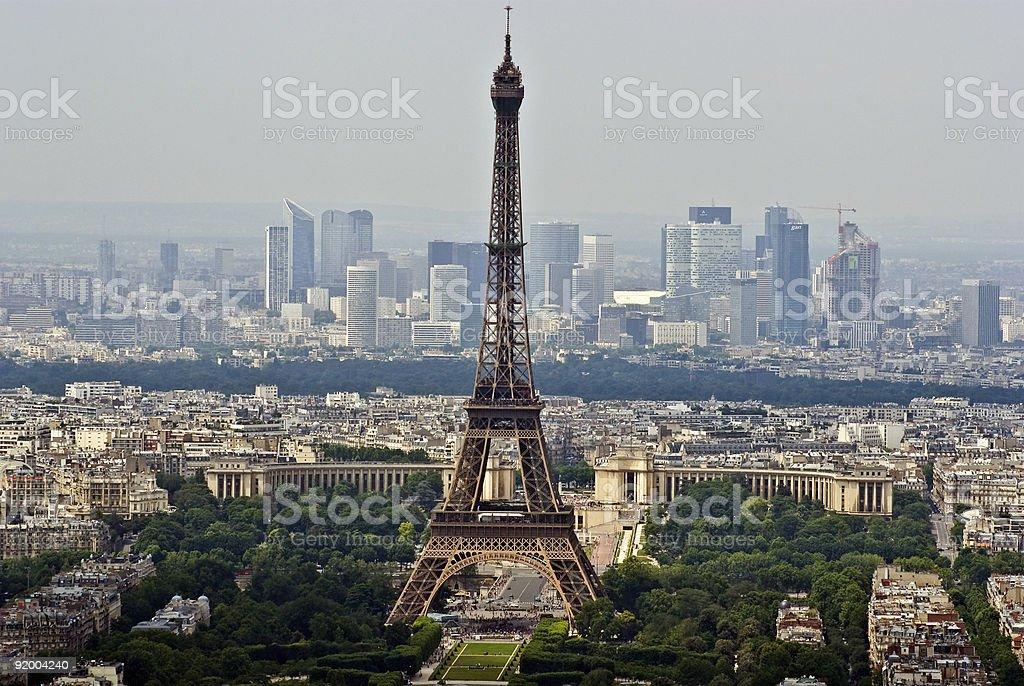 Aerial view of Paris royalty-free stock photo