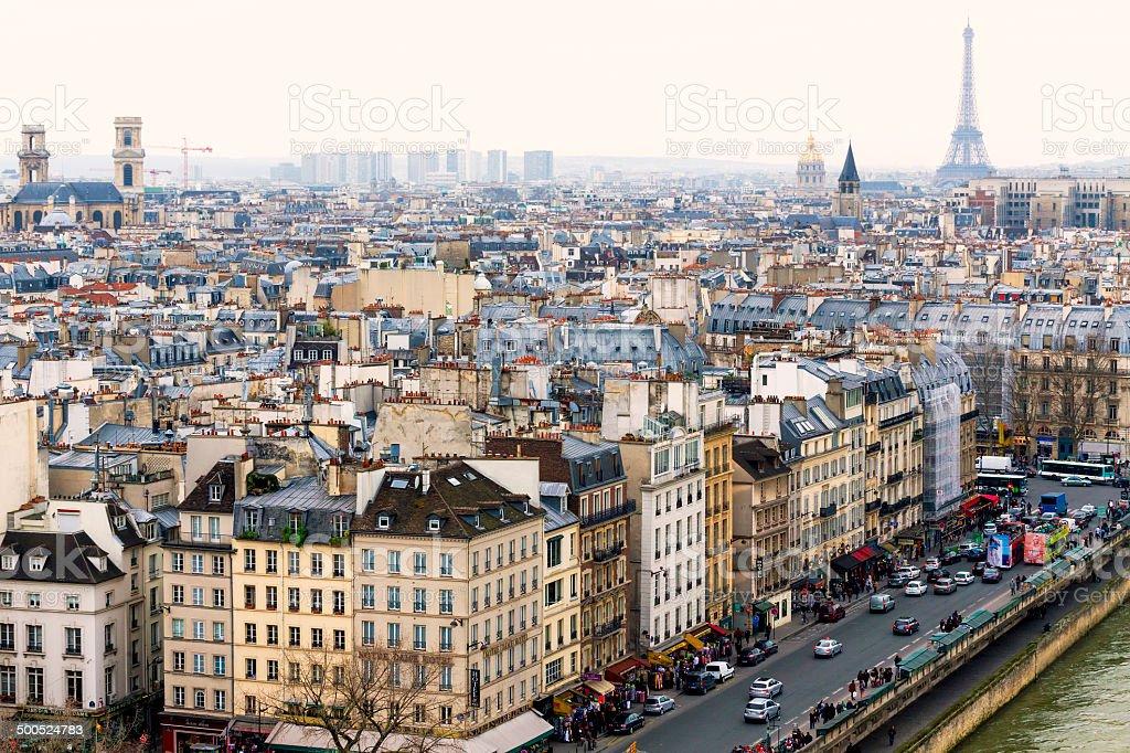 Luftbild von Paris mit Eiffelturm – Foto