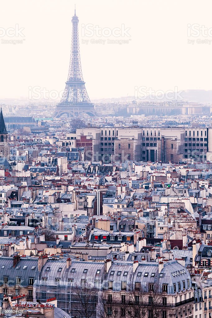 Luftbild von Paris und den Eiffelturm.   Traditionelle Blick auf – Foto