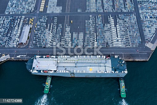 1142724396 istock photo Aerial View of parking 1142724369