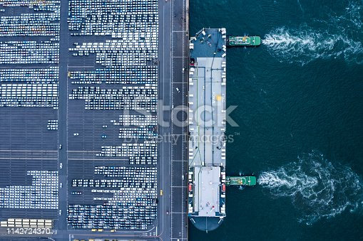 1142724396 istock photo Aerial View of parking 1142724370