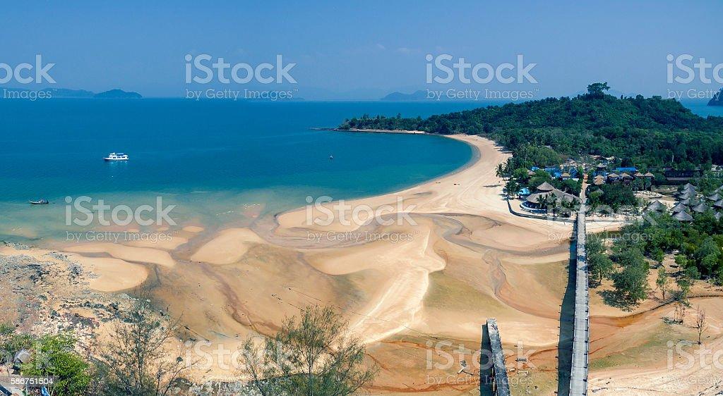 aerial view of payam island ranong andaman sea southern of thailand stock photo