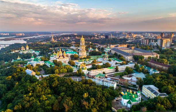 Luftaufnahme von Pechersk Lavra in Kiew, die Hauptstadt der Ukraine – Foto
