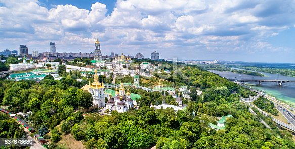 istock Aerial view of Pechersk Lavra in Kiev, the capital of Ukraine 837678680