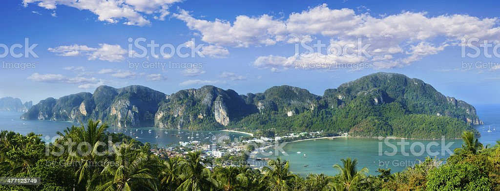 Aerial View of Phi Phi Island in Thailand stock photo