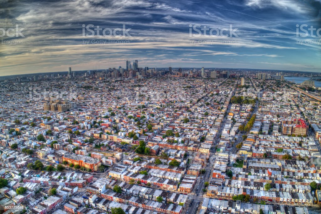 Aerial View Of Philadelphia PA stock photo