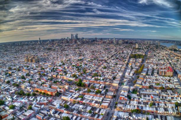 Aerial View Of Philadelphia PA stock photo