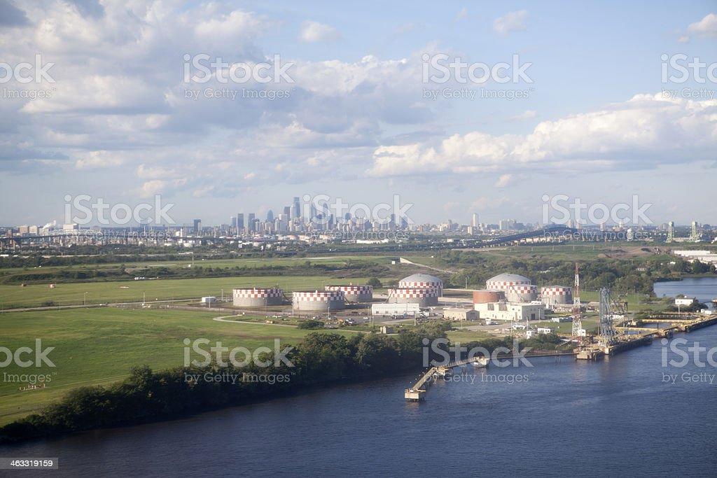 Aerial view of Philadelphia royalty-free stock photo