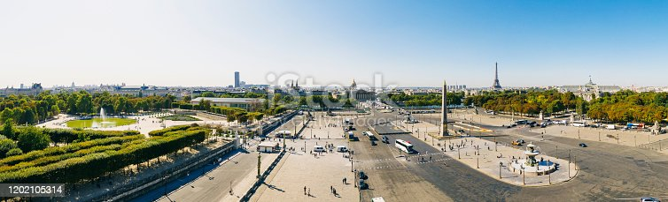 Aerial view of Place de la Concorde Paris France