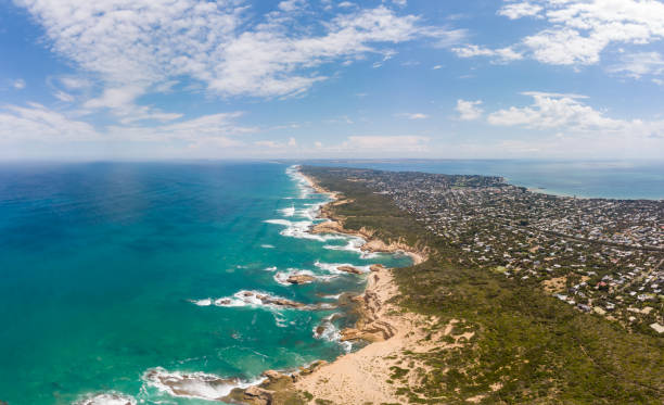 Aerial View of Point Nepean Australia stock photo