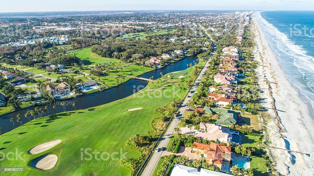 Aerial View of Ponte Vedra Beach, Jacksonville stock photo