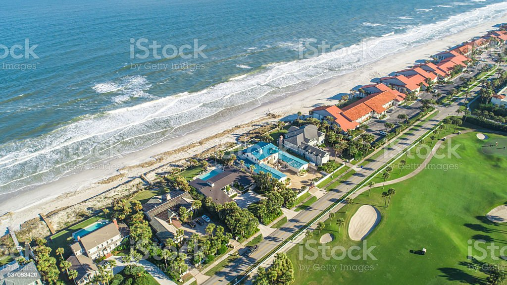 Aerial View of Ponte Vedra Beach, Jacksonville stock photo