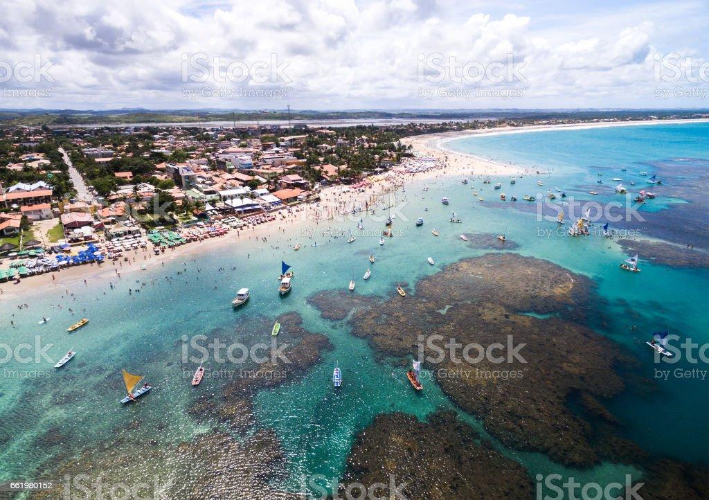 Aerial View of Porto de Galinhas, Pernambuco, Brazil royalty-free stock photo