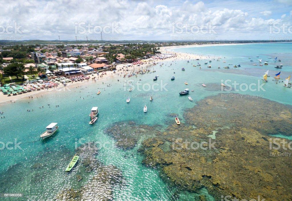 Aerial View of Porto de Galinhas, Pernambuco, Brazil stock photo