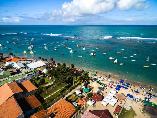 Luftaufnahme von Porto de Galinhas, Pernambuco, Brasilien – Foto