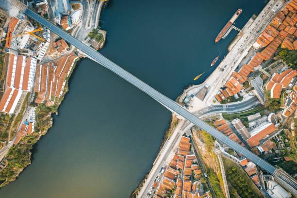 Aerial view of Porto stock photo