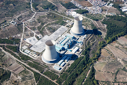 istock Aerial view of power plant 812466890