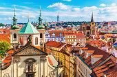 istock Aerial view of Prague, Czech Republic 477460485