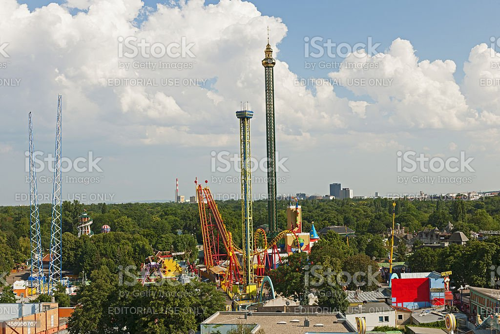 Aerial View of Prater in Vienna royalty-free stock photo