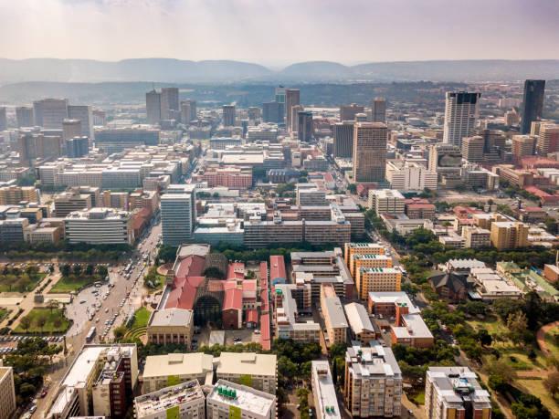 Luftaufnahme der Innenstadt von Pretoria, Hauptstadt Südafrikas – Foto
