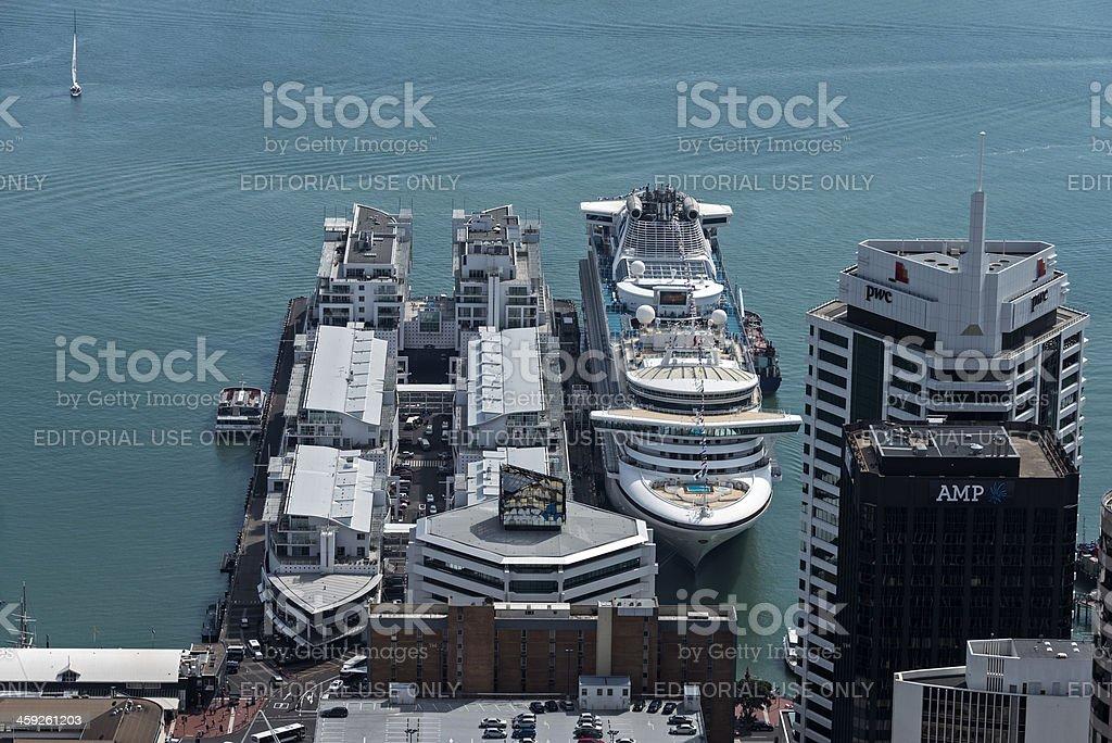 Aerial View of Princess Wharf royalty-free stock photo