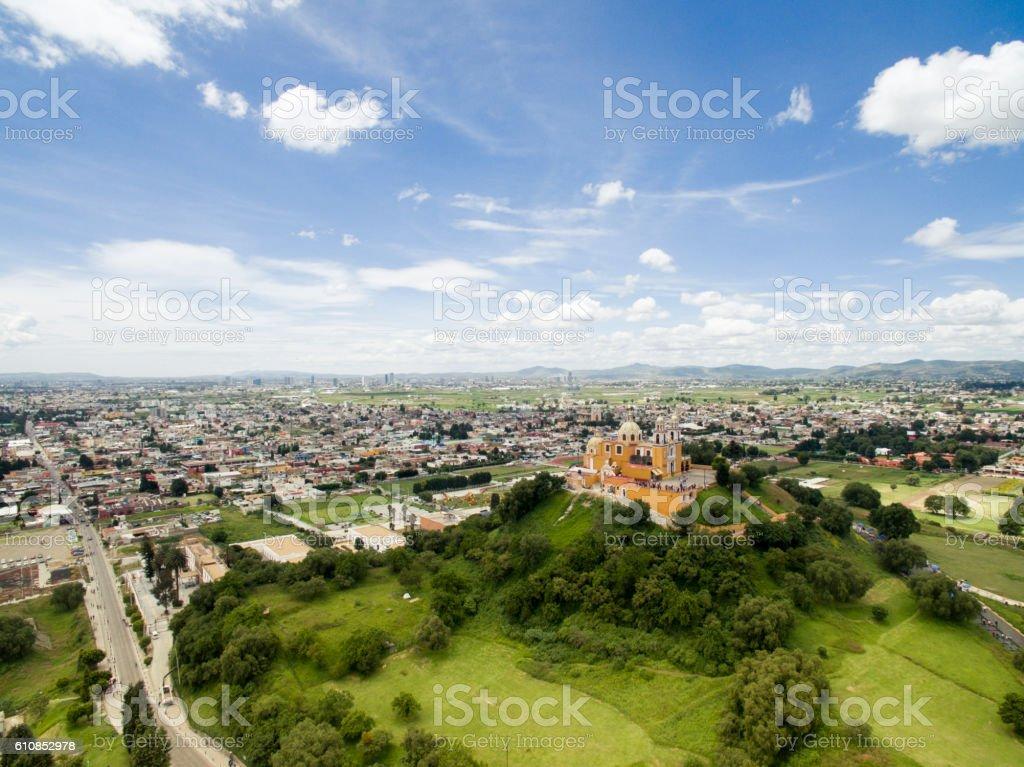 Aerial view of Puebla stock photo