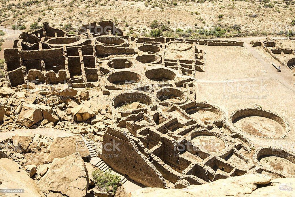 Aerial View of Pueblo Bonito stock photo