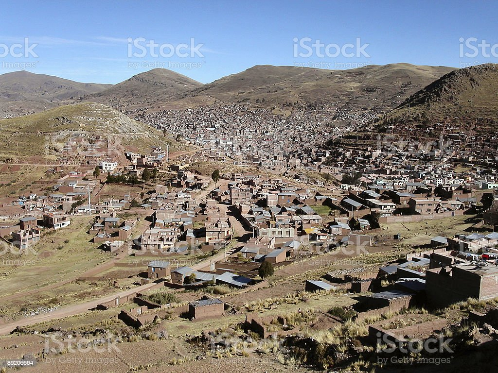 Aerial view of Puno royalty-free stock photo