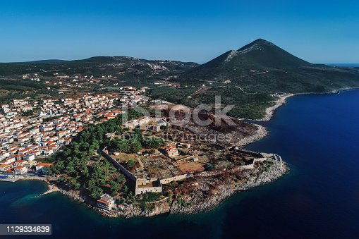 istock aerial view of Pylos historically also known under its Italian name Navarino, is a town and a former municipality in Messenia, Peloponnese, Greece 1129334639