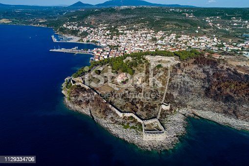 istock aerial view of Pylos historically also known under its Italian name Navarino, is a town and a former municipality in Messenia, Peloponnese, Greece 1129334706