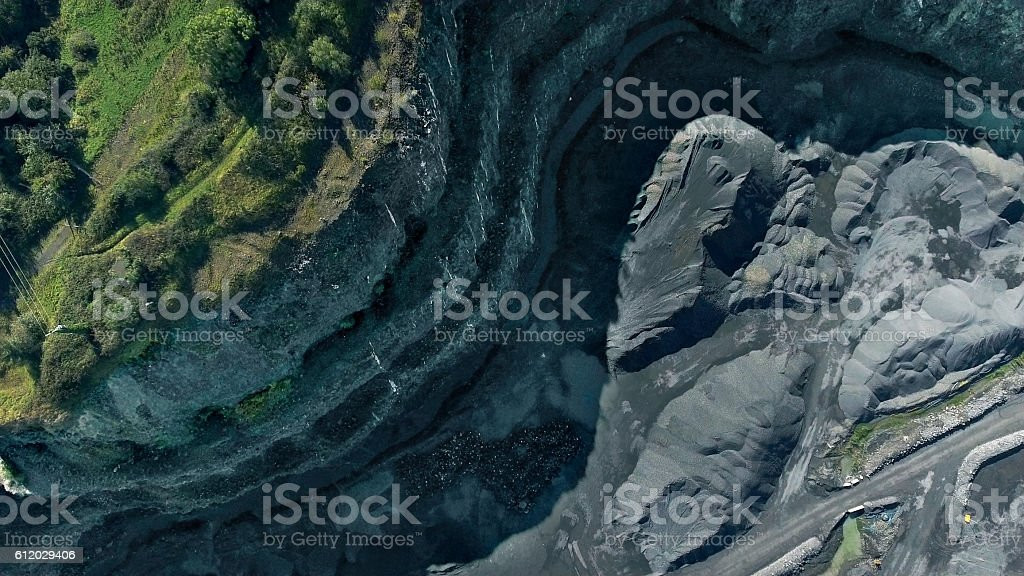 Aerial view of quarry stock photo