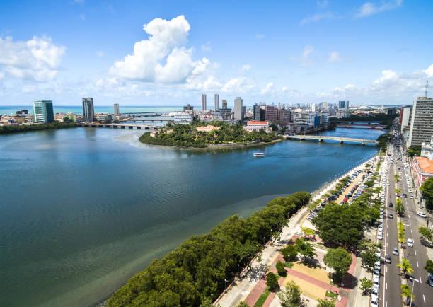 Vista aérea de Recife, Pernambuco, Brasil - foto de stock
