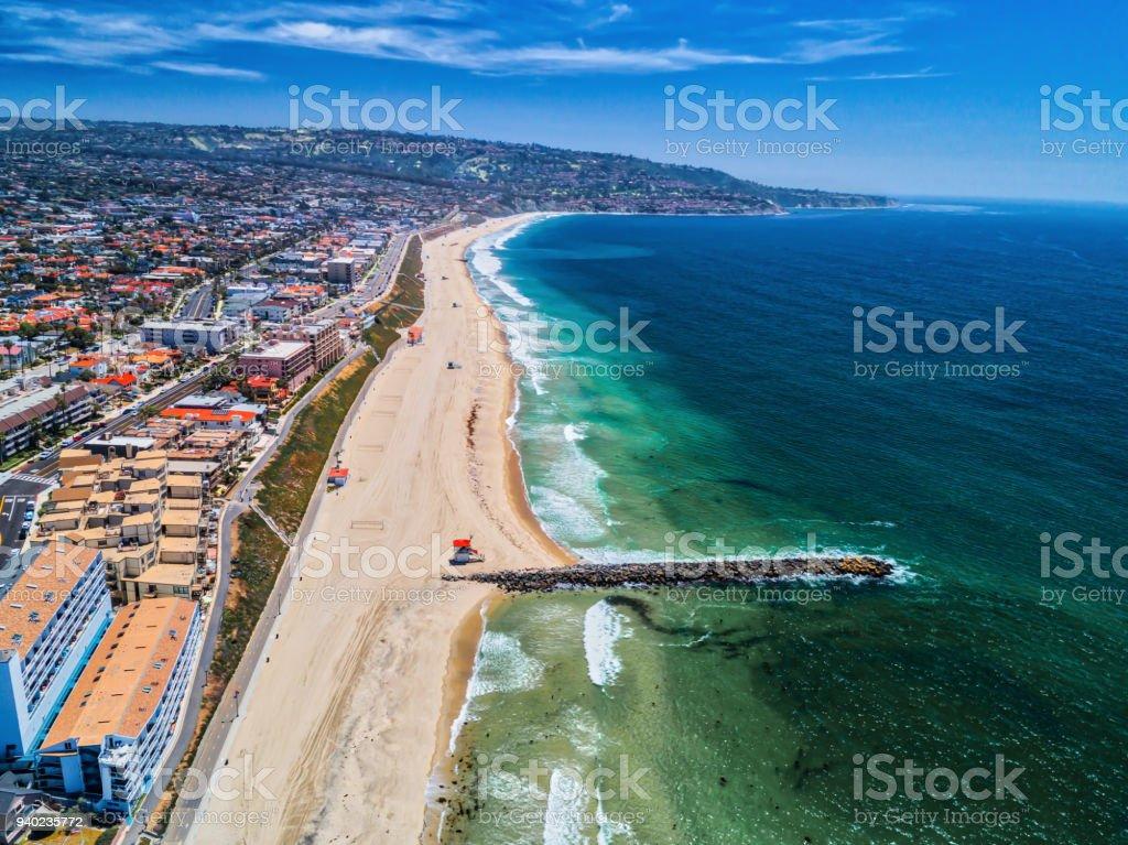 Aerial View Of Redondo Beach California Jetty Stock Photo