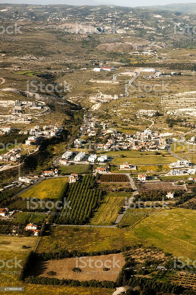 Aerial view of residential area royalty-free stock photo