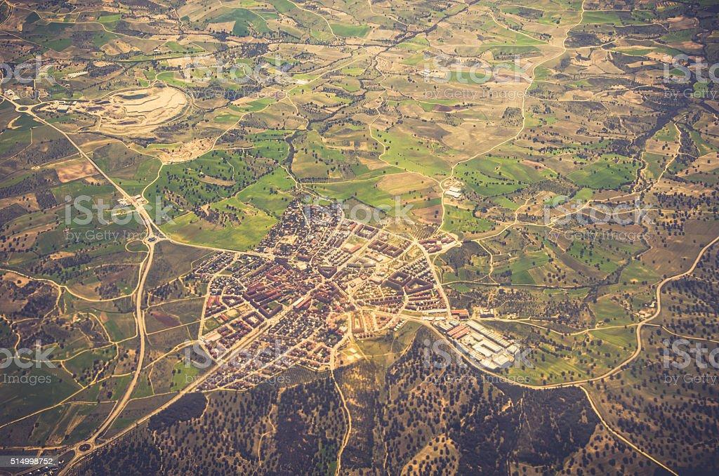 Vista aérea del área residencial foto de stock libre de derechos