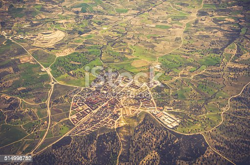 istock Aerial view of residential area 514998752