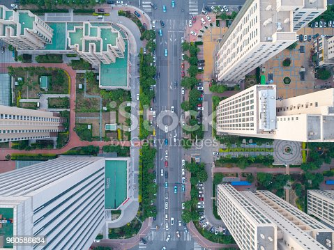 istock Aerial view of residential building 960586634