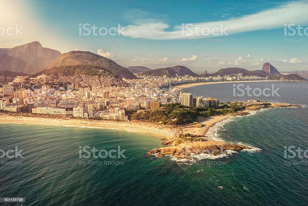 Aerial view of Rio de Janeiro Beach stock photo