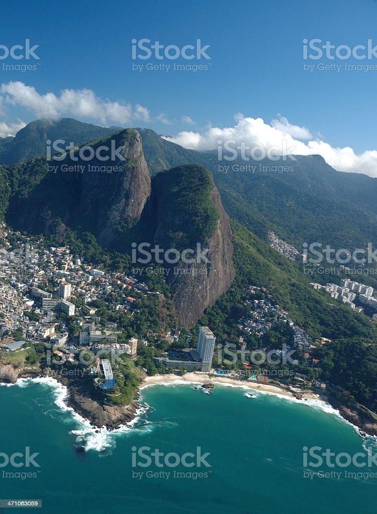 Aerial view of Rio de Janeiro beaches royalty-free stock photo