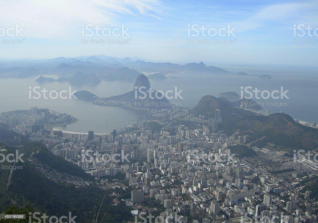 Aerial view of Rio de Janeiro, Brazil royalty-free stock photo