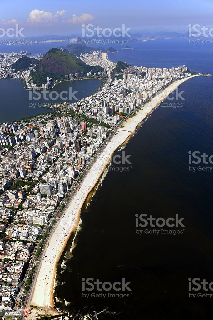 Aerial view of Rio de Janeiro, Ipanema, Leblon royalty-free stock photo