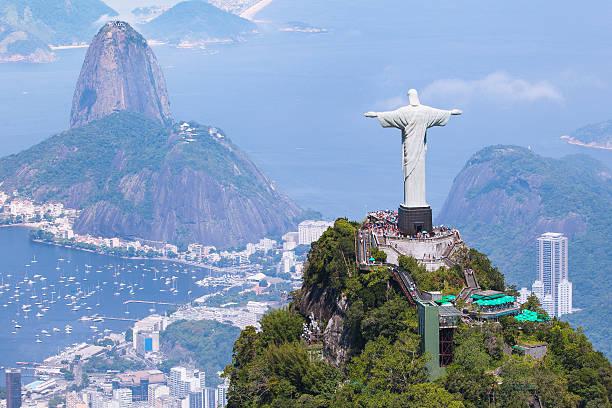 вид с воздуха на рио-де-жанейро - бразилия стоковые фото и изображения